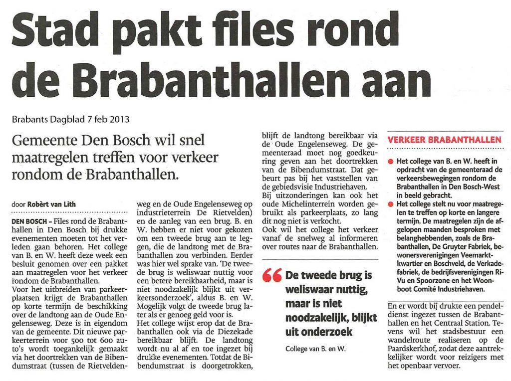 'Stad pakt files rond de Brabanthallen aan'